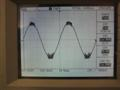 20Hz Sine wave, 4R load, threshold of clipping. Shows instability on the top and bottom of the waveform.