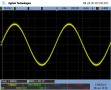 1kHz, 4R sine wave, before limiter cuts in. Visible out-of-band noise.