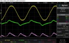 1kHz, 4R, post-limit mains waveforms. Clean-ish current waveform.