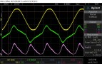 10kHz, 8R, mains waveforms. Clean-ish current waveform.