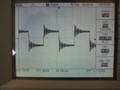 1kHz square wave, open circuit, threshold of clipping. Shows prolonged decaying ringing due to underdamped output filter.