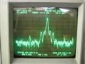 Quiescent output residual, 8R, no input, spectrum showing sidebands.
