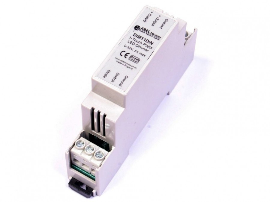 dim11din led dimmer push switch controlled din rail pwm 12v 24v 5a low. Black Bedroom Furniture Sets. Home Design Ideas