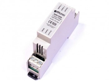 DIM11DIN LED Dimmer, Push Switch Controlled, DIN-Rail, PWM, 12V 24V 5A Low Voltage - Product Image 1