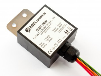 DIM11MW Selectable LED Dimmer, Push Switch Controlled, PWM, 12V 24V 10A, IP68 - Product Image 1