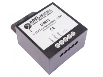 DIM12 LED Dimmer, Rotary Potentiometer Controlled, PWM, 12V 24V 10A Low Voltage - Product Image 1