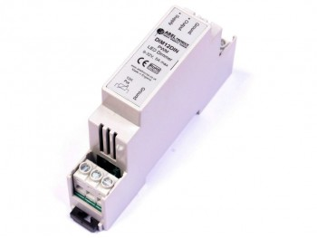 DIM12DIN LED Dimmer, Rotary Potentiometer Controlled, DIN-Rail, PWM, 12V 24V, 5A Low Voltage - Product Image 1