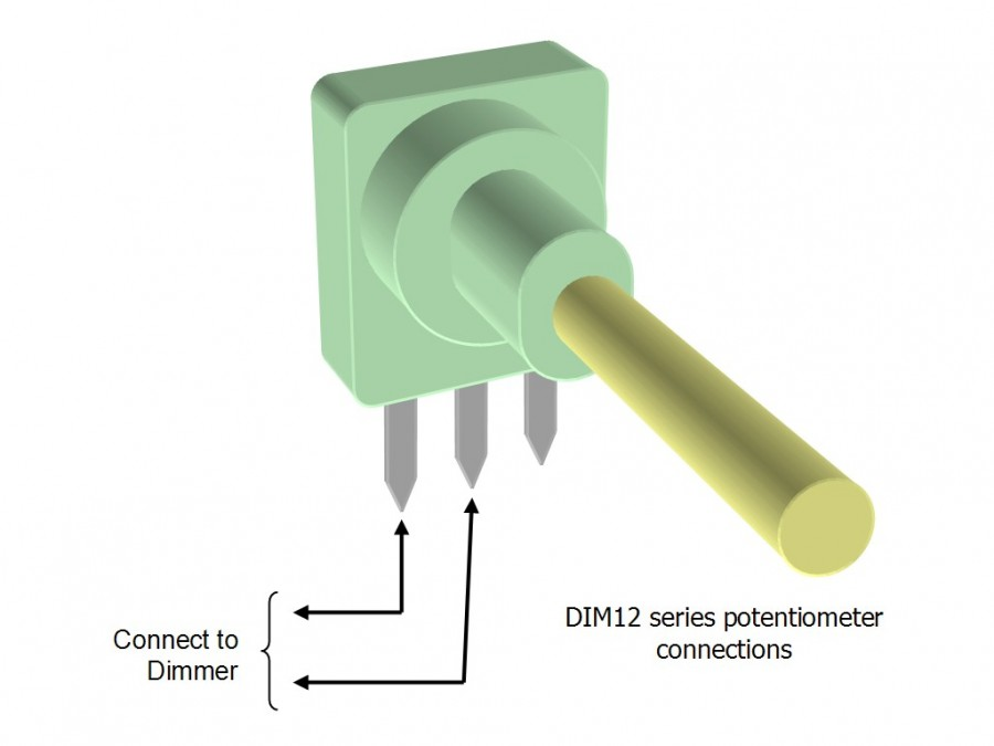 12v Dimmer Switch >> DIM12N - LED Dimmer, Rotary Potentiometer Controlled ...