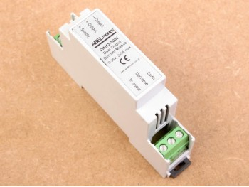 DIM13-2DIN LED Dimmer, Dual Output Switch Controlled, DIN-mount, PWM, 12V 24V, 5A Low Voltage - Product Image 1