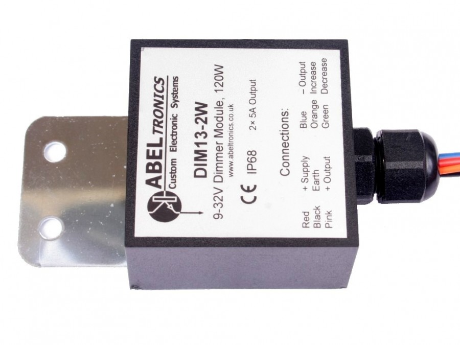 Dim13 2w Led Dimmer Dual Output Switch Controlled Ip68