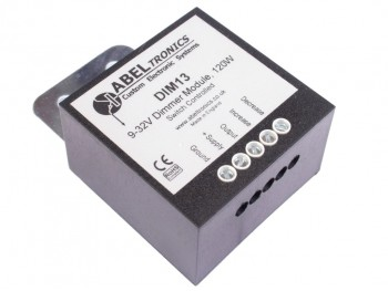 DIM13 LED Dimmer, Dual Switch Controlled, PWM, 12V 24V, 10A Low Voltage - Product Image 1