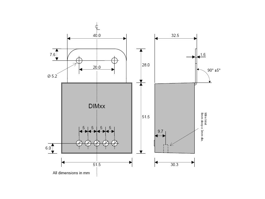 DIM13N - LED Dimmer, Dual Switch Controlled, Negative Low-side ...