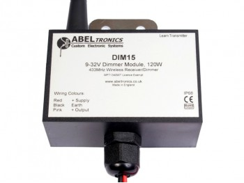DIM15 LED Dimmer, Remote Radio Controlled, IP68 Waterproof, PWM, 12V 24V Low Voltage 10A - Product Image 1