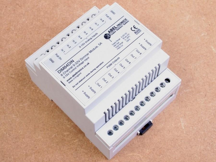 Dim84din 8 Channel Led Dimmer 0 10 Volt Controlled Din