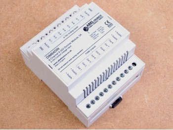 DIM84DIN 8 Channel LED Dimmer, 0-10 Volt Controlled, DIN-mount, PWM, 12V 24V Low Voltage - Product Image 1